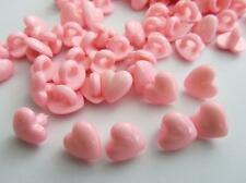 20 Kids Collection Plastic Sewing Shank Button/Trim/Craft/Baby Sb84-Pink Heart