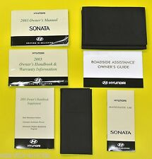 Sonata 03 2003 Hyundai Owners Owner's Manual Set with Case