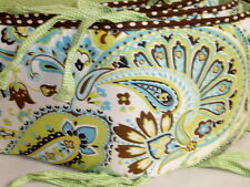 My Baby Sam Mad Paisley Splash in Lime Brown Dot Green Gingham Crib Bumper Pad