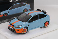 Ford Focus RS 2010 Blue/orange Le Mans Edition 1 of 702 1/18 Diecast MINICHAMPS
