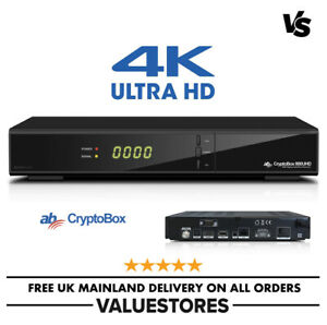 AB Cryptobox 800UHD 4K Ultra HD MultiCAS Digital Satellite Receiver with H.265