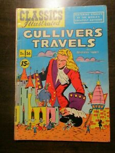 CLASSICS ILLUSTRATED #16 GULLIVER'S TRAVELS BY JONATHAN SWIFT HRN 89 FINE 1944
