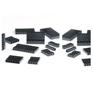20/50/100Pcs DuPont plug connector spacing 2.54mm 2/3/4/5/6/7/8/10/12/16/20P
