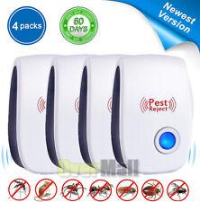 4 Pack Ultrasonic Pest Repeller & Bug Zapper Insect Fly Killer SAFE ECO-FRIENDL
