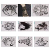 Loup temporaire Tattoo Stickers Waterproof Fake Hand Tattoos Adult Hom JE