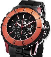 Cerruti Herren Armbanduhr Keramik schwarz CRA078Z299H