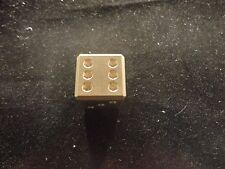 BRASS DICE-1 EACH SOLID BULLION NUMERIC-APPROX 1.5 OZ EA-  GIFT - NOVELTY ITEM