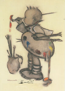 Kunstkarte: Hummel - Der Kunstmaler
