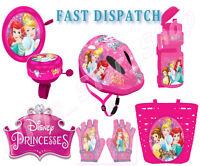Disney PRINCESS Kids Bike Cycle Set Accessory Helmet Bell Basket Gloves Bottles