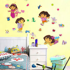 Wall Sticker Dora the Explorer Removable PVC Mural Decals Girls Room Decor DIY