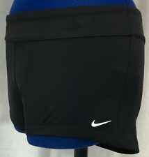 Nike Black Large Shorts Core Active Swim L Athletic Boy Cut Cover Up Stretch New