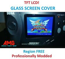 Sega Nomad MOD SERVICE - QUALITY TFT LCD Screen + Region free + Glass Screen