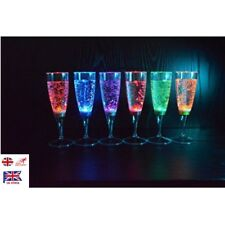 DIY 6Pcs Set LED Light Wine Flute Light Up Activated Champagne Glasses Party Cup