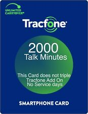 TracFone 2000 Minutes Prepaid Add On Refill Card for SmartPhone. Directly, Fast.