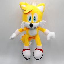 Yellow Sonic Plush Doll Stuffed Animal Plushie Soft Toy Gift - 10 In