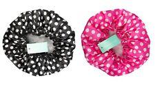 Black or Pink Polka Dot Spotty Retro Vintage Printed Waterproof Shower Hair Cap