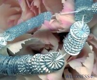 New French INDENT SILVER SEQUINS PAILLETTES SUNBURST Ruffled COUTURE 5mm Wheels