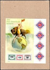 2001 PAN-AMERICAN EXPO INVERTS CENTENNIAL SOUVENIR SHEET, USPS SEALED (SC#3505)