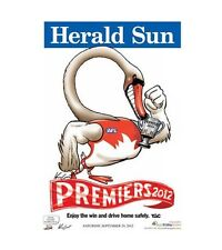 Sydney Swans 2012 Mark Knight Premiership Poster
