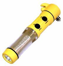 5 Way Emergency Tool- Window Spike Flashing Beacon Torch Light Seat Belt Cutter