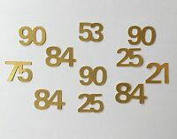 200 Numbers Table Confetti Any Age Personalised Number Birthday Confetti Paper