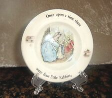Vintage Porcelain Peter Rabbit Beatrix Potter Plate–Benjamin Bunny Fairy Tale
