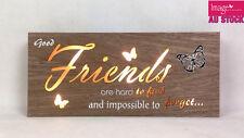 Friends LED Light Up Hanging Wording Sign Home Decoration Wedding Gift GKIFRD22