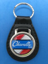 CHEVY CHEVELLE SS AUTO LEATHER KEYCHAIN KEY CHAIN RING FOB #192