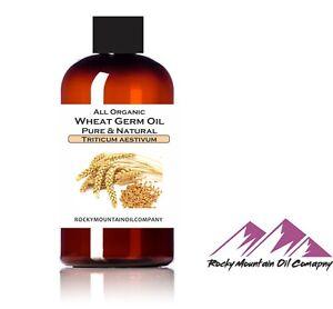 PURE ORGANIC VIRGIN WHEAT GERM OIL RAW UNREFINED COLD PRESSED 1oz -GALLON