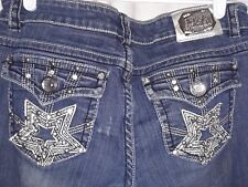 Miss Chic size 9  jeans bling on pockets, holes in rearview studs missing