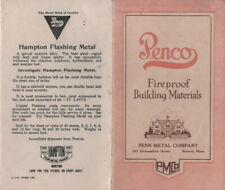 PENCO FIREPROOF BUILDING MATERIALS PENN METAL CO 201 DEVONSHIRE ST BOSTON MA