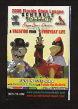Jupiter Hammerheads & Palm Beach Cardinals--2006 Schedule--Annett Bus Lines