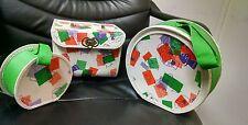 Vintage 1960's 3 Piece Kids Luggage Set, Mushroom Kids!  Very Cool!