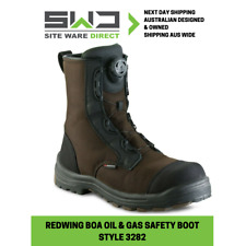 """REDWING 3282 BOA 8"""" Metal Free Oil/Slip Resistant S3 Cordura Brown Safety Boot"""