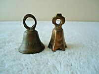 "Vintage Lot Of 2 Miniature Brass Bells,1,Made In India "" TENNESSEE "",1,Other"