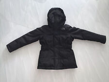 The North Face 550 DryVent Black Quilted Goose Down Hood Coat Girl 7-8