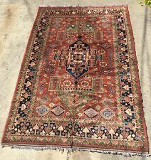 Handmade Kazak Wool Area Rug, 9.75 x 5ft
