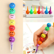 Popular Sugar-Coated Haw Cartoon Smiley Graffiti Pen 7 Colors Crayon Wax Pencil