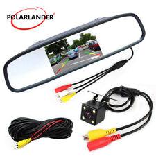 5'' Mini LED +Rear View Camera Car CCD Monitor LCD Video Parking Sensor System