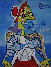 Unique Original, oil, Cubist Portrait painting, signed, Pablo Picasso, w COA