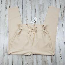 Simplee Womens Pants M Beige Two Pocket Slim Leg