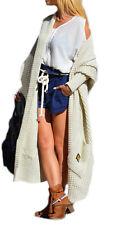 Frauen Strickjacke Pullover Pulli Cardigan Langarm OVERSIZE S,M,L,36,38,40 (658)