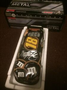 Kyle Busch & Dave Rodgers AUTOGRAPHED Halloween Brushed Metal 2011 1/24 Rare
