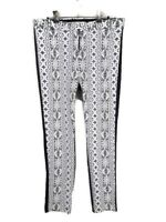 SCANLAN THEODORE Silk Lined White Lace Black Three Quarter Womens Pants Size 12