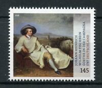 Germany 2018 MNH Johann Tischbein Goethe in Campagna 1v Set Art Paintings Stamps