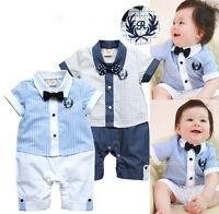 Baby Boys Kids Playsuit One Piece Infant Toddler Romper Newborn Bodysuit 0-18 M