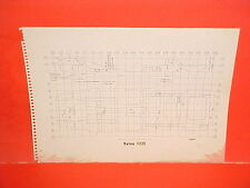 1960 VOLVO 122S HILLMAN MINX CONVERTIBLE COUPE SEDAN WAGON FRAME DIMENSION CHART