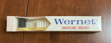 Vintage WERNET Denture Brush Yellow Handle NOS and Sealed