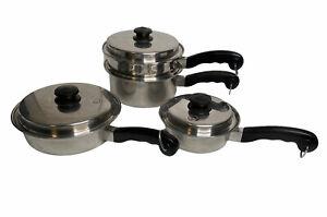 Salad Master 5Star TP304S Set Includes Pots, Pans, Vapo Lids, Handles