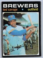 1971  TED SAVAGE - Topps Baseball Card # 76 - MILWAUKEE BREWERS